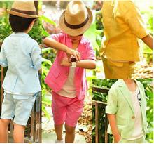 Hot Retail Children Clothing Set baby boys clothes kids Clothes Pants Suit Coat +Shorts 2pcs Suit 2-6Years,CT-066(China (Mainland))