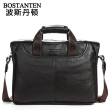 Maxwell BOSTANTEN Promotion Best Gift Genuine Leather Men Messenger Bags Briefcase Handbags 14 inch Laptop Bag #MW-B10023(China (Mainland))