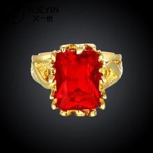 R101-A-8 High Quality fashion austrian crystal 18k gold jewelry ring ruby jewellery wedding rings for women roxi anillos bijoux
