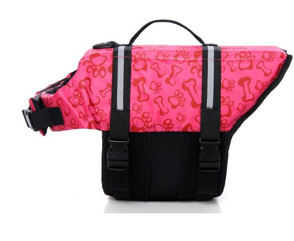 new style free shipping dog life jacket pet life jacket dog clothing pet clothing dog jacket pink bone(China (Mainland))