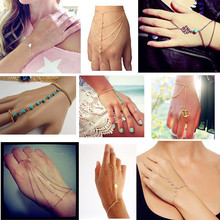 Gold/Silver Plated Slave Hand Finger Bracelets & Bangles for Women Fashion Charms Harness Pulseiras Mujer Bijoux 2016(China (Mainland))