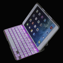 7 Color LED Backlight Ultra Slim Wireless Bluetooth Keyboard Smart Cover Case For iPad Mini 1 mini 2 mini 3 7.9 inch(China (Mainland))