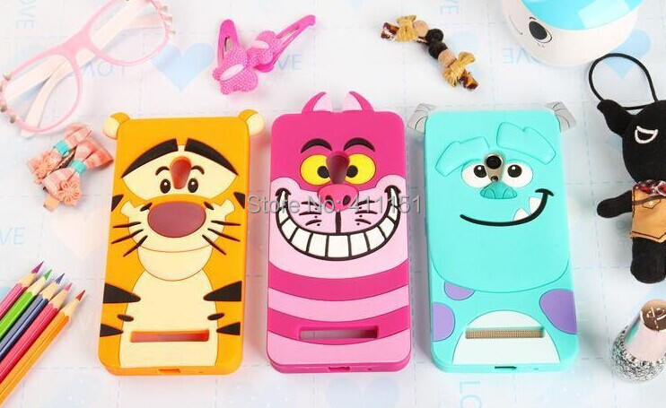 Cute 3D Cartoon Tigger Sulley Cheshire Cat Silicone Case Back Cover Asus Zenfone 5 - ALEX ZHOU Store store