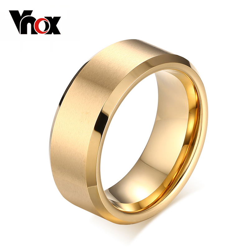 10pcs/lots Wholesale 8.0mm tungsten ring black &amp; gold &amp; silver 3 color men jewelry<br><br>Aliexpress