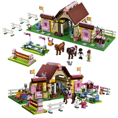 New Original Bela Friends 10163 Heartlake Stables Girls Mia's Farm Building Blocks 400pcs/set Bricks toys Compatible with Lego(China (Mainland))
