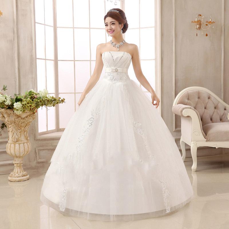 2015 New Korean Belts Self Princess Wedding Dress Bra Qi