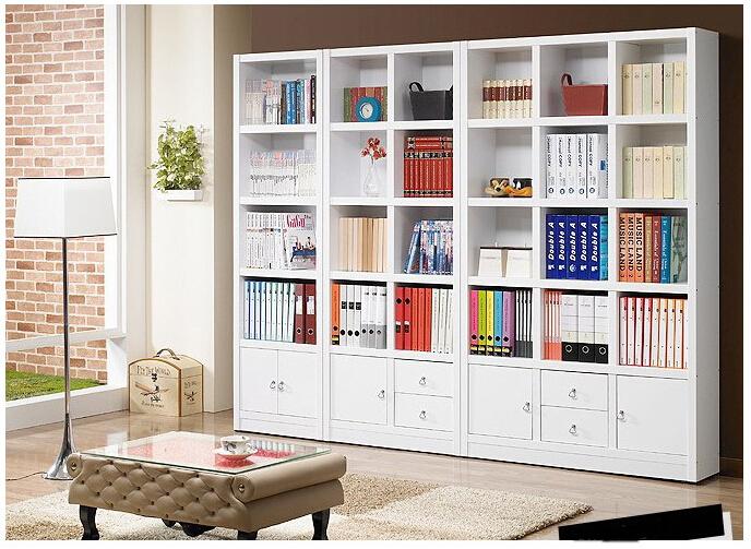 A white multifunctional bookshelf free combination of big lockers IKEA locker(China (Mainland))