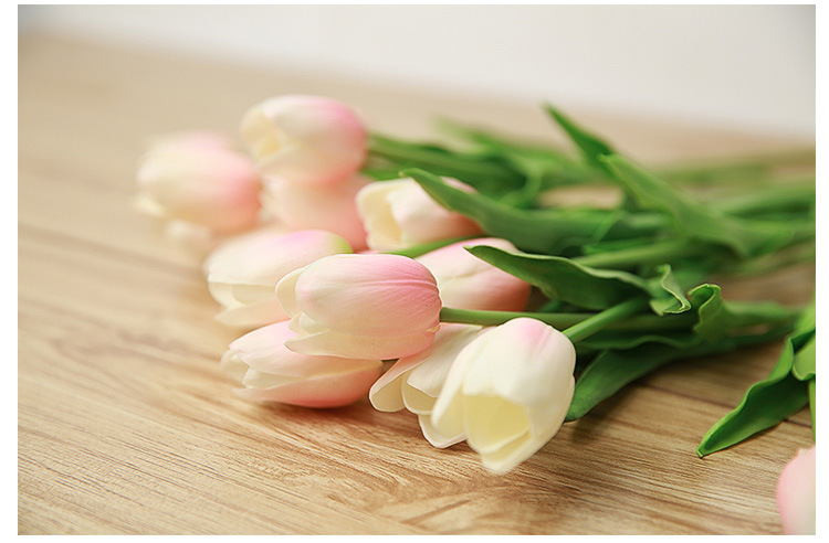 25pcs/lot Tulip Artificial Spring Flower PU artificial bouquet Real touch flowers For Home decoration Wedding Decorative Flowers