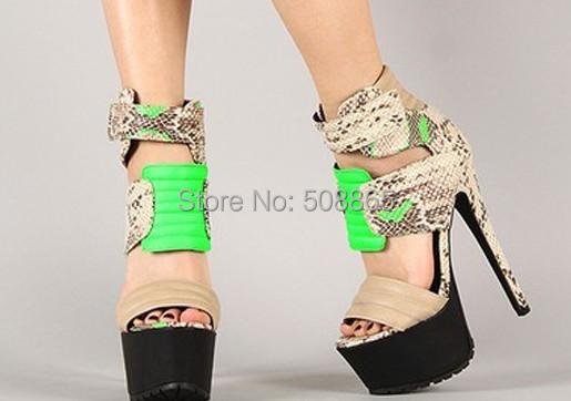 Women summer 16CM high heels high platform colorful peep toe Extreme Fetish gladiator sandals,women sandaler plus size US11<br><br>Aliexpress