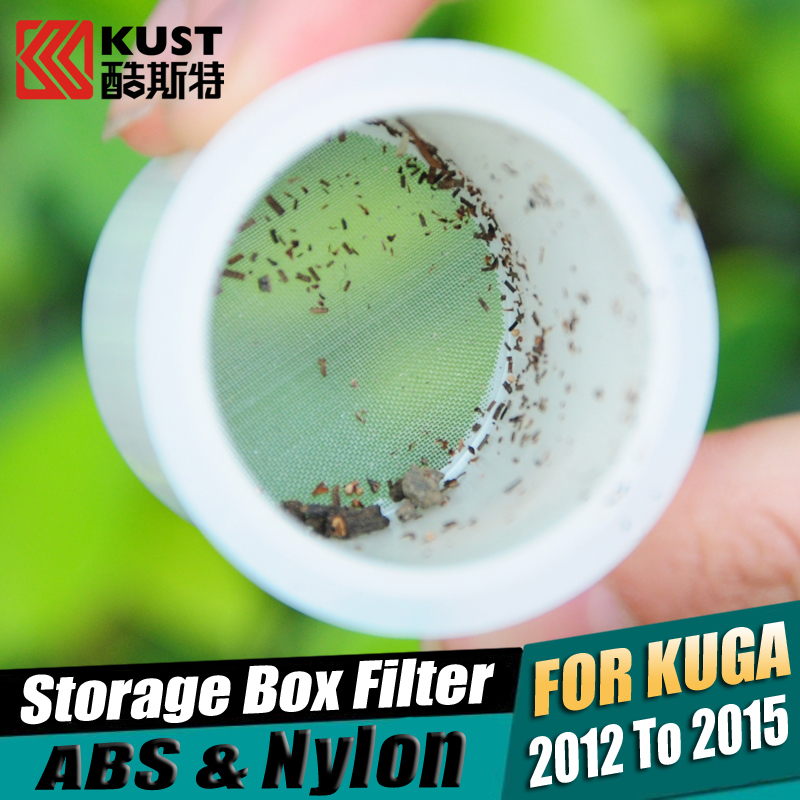 ABS Storage Box Filter For Kuga 2012 To 2015 Protective Wiper Tank Filter For Kuga 3 For Ford Nylon Car Tank Filter For Escape(China (Mainland))