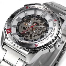 SHENHUA 9501 Gear Bezel Automatic Mechanical Skeleton Men Sport Watch Festina Relojes Deportivos Cool Horloges