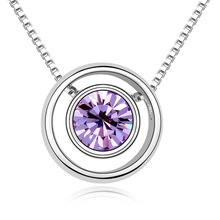 8 Colors Made with Swarovski Elements Pendant Necklace for women Fashion Necklace New Sale Hot #99311(China (Mainland))