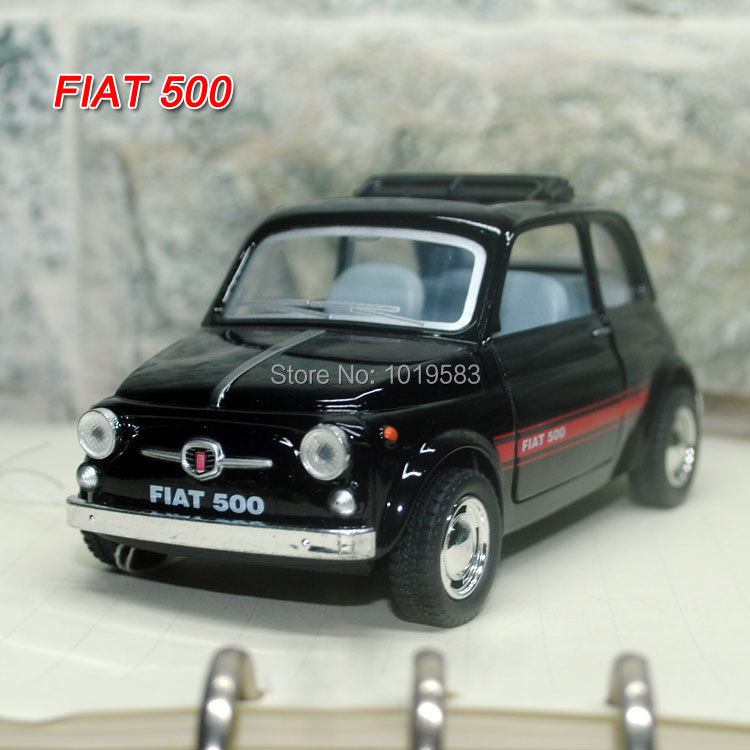 Brand New 1/24 Scale Diecast Metal Car Model Toys Classic FIAT 500 Alloy Pull Back Car Toy For Gift/Children -Free Shipping(China (Mainland))
