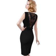 Buy Women Dresses Sexy Elegant See Back Bow Butterfly Lace Party Evening Pencil Vestidos Bodycon Dress 272 for $9.22 in AliExpress store