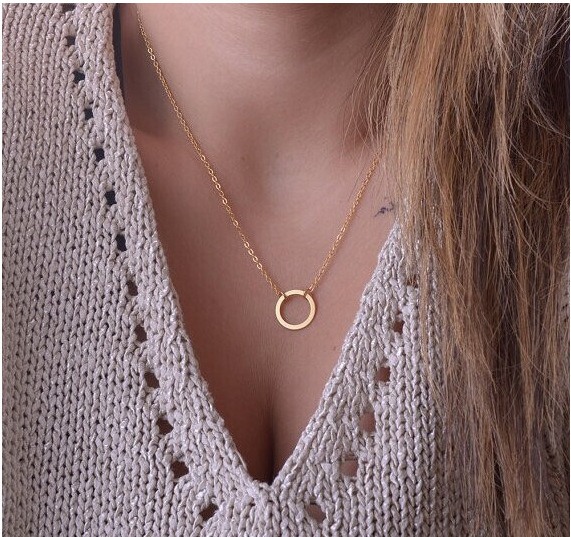 collier Fine jewelry maxi necklace necklaces pendants choker statement summer jewelry women femme colares Circle gold