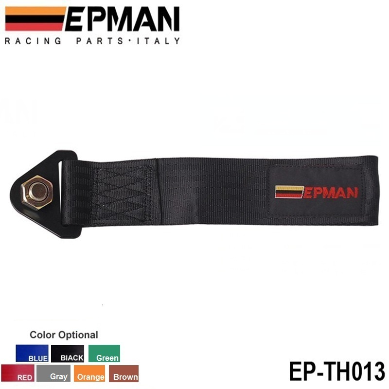 EPMAN - Black Universal High Strength Racing Tow Towing Strap Hook Front Rear Bumper Truck Car EP-TH013(China (Mainland))