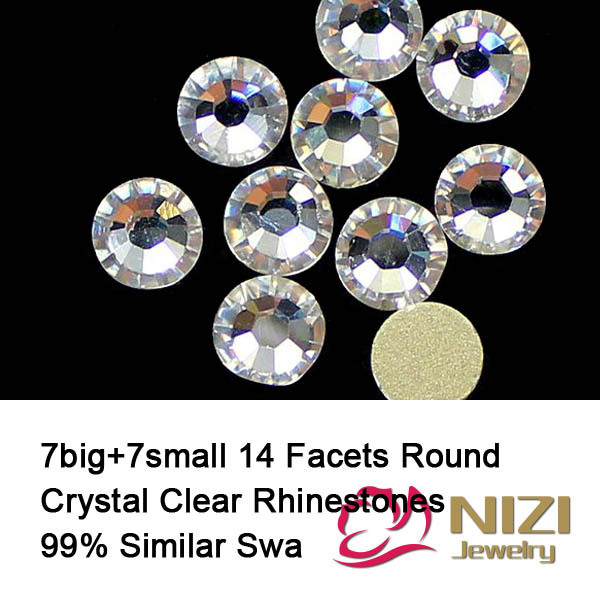 High Shine Crystal Clear Strass Better Than AAAAA  Rhinestones Round Glass Rhinestones For Garment Excellent Quality Strass<br><br>Aliexpress