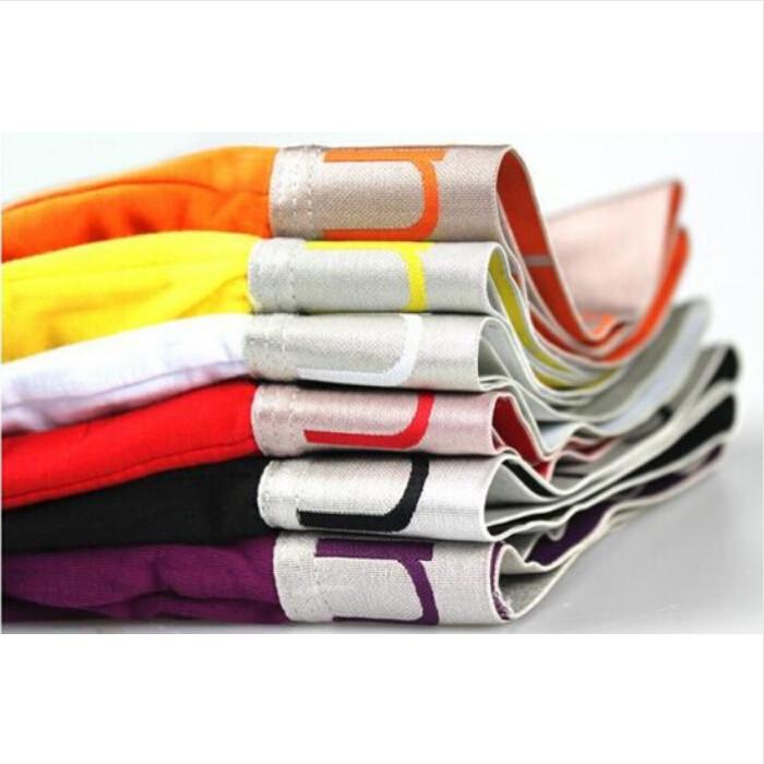 Лучшее качество 4 шт./лот новый мужской хлопчатобумажное белье высокое качество боксер упругой стиль цвет может быть подобранные 11 цвет