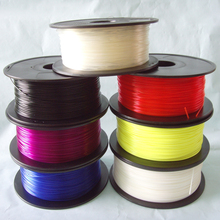 WholeSale Price !!!  transparent green color  3d printer filaments ABS/PLA 1.75mm/3mm Plastic Rubber Consumables Material