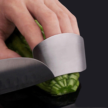 Newly Finger Guard Protect Finger Stainless Steel Knife Cut Chop Safety Guard Kitchen Cooking Tools(China (Mainland))