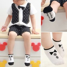 Stylish 0-2Y Kids Baby Boys Girls Socks Cotton Knitted Anti Slip Short Socks Breathable Socks(China (Mainland))
