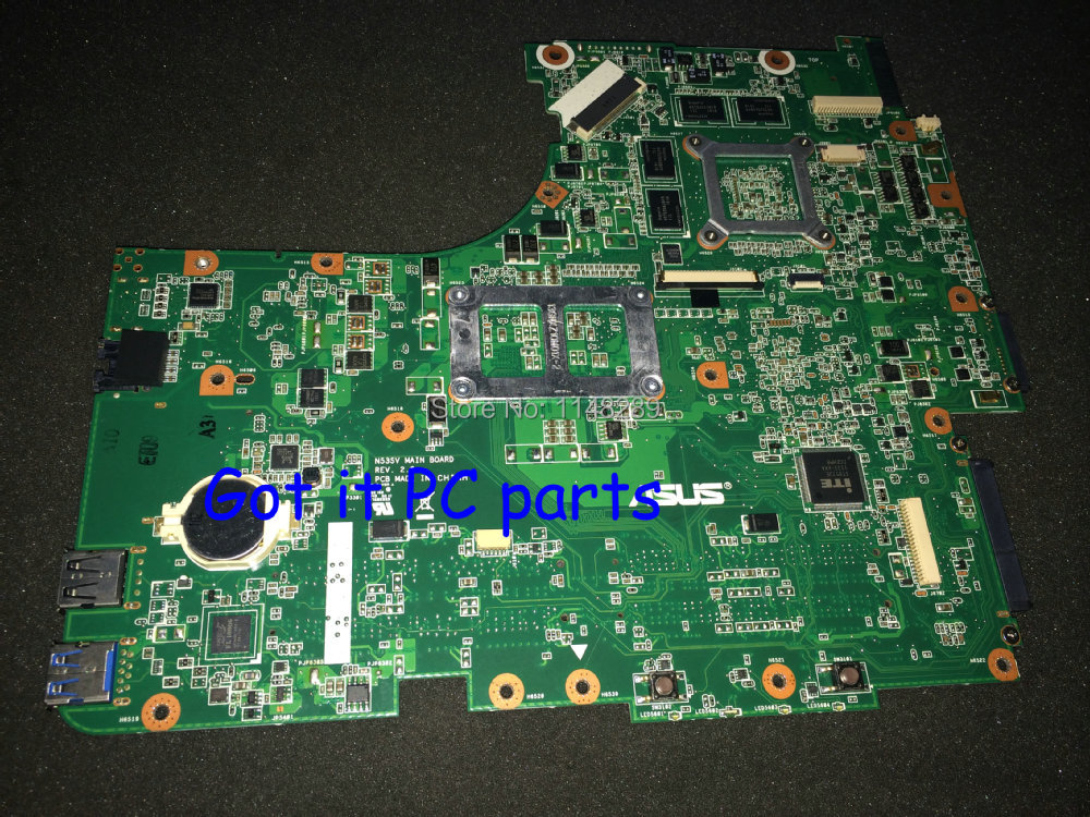 EMS DHL Free Shipping New Laptop  Motherboard Mainboard  N53SV REV : 2.2 Suitable For ASUS N53SN N53SV N53S Notebook MAIN BOARD<br><br>Aliexpress