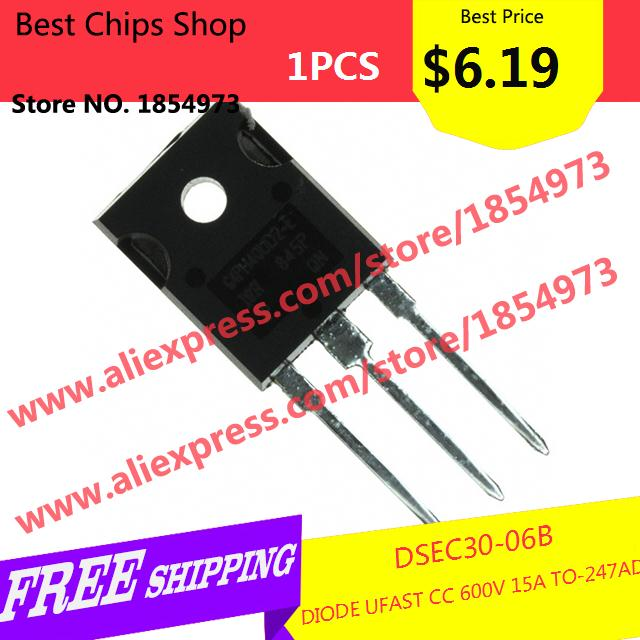 Free Shipping 1PCS=$6.19 Diy Kit Electronic Production DSEC30-06B DIODE UFAST CC 600V 15A TO-247AD DSEC30 30-06(China (Mainland))