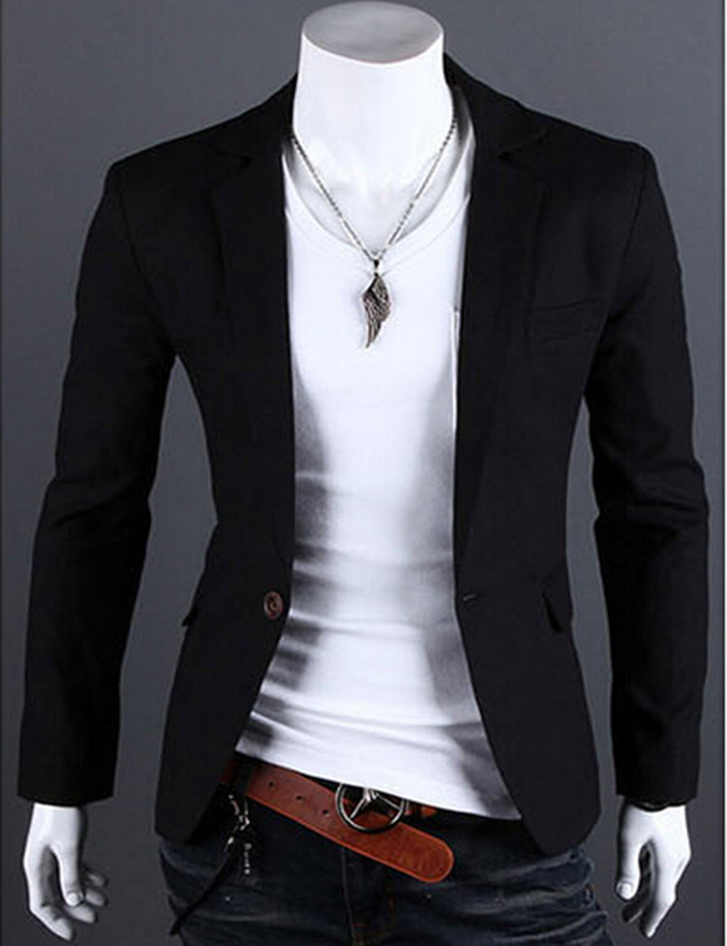 fashion stylish men s suit men s blazer business suit. Black Bedroom Furniture Sets. Home Design Ideas