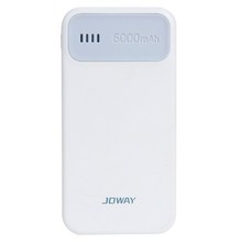 NI5L 2016 New JOWAY Ultrathin 6000mAh Compact Polymer Portable Charger For Moblie Phone Gray Free Shipping