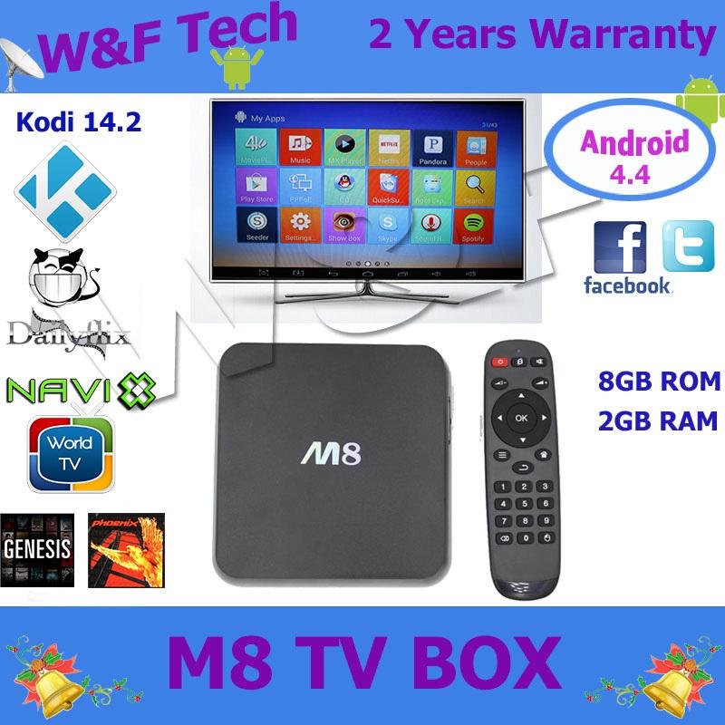 10pcs android quad core tv box 4k m8 android tv box 2GB+8GB xbmc wifi bluetooth HDMI hot selling m8 ott tv box free shipping(China (Mainland))