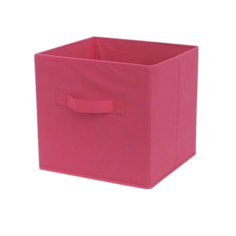 1 Pc Kawaii Pink Folding stand Makeup Storage Clothing Crafts Organizer Storage Box Non-Woven Container ornaments(China (Mainland))