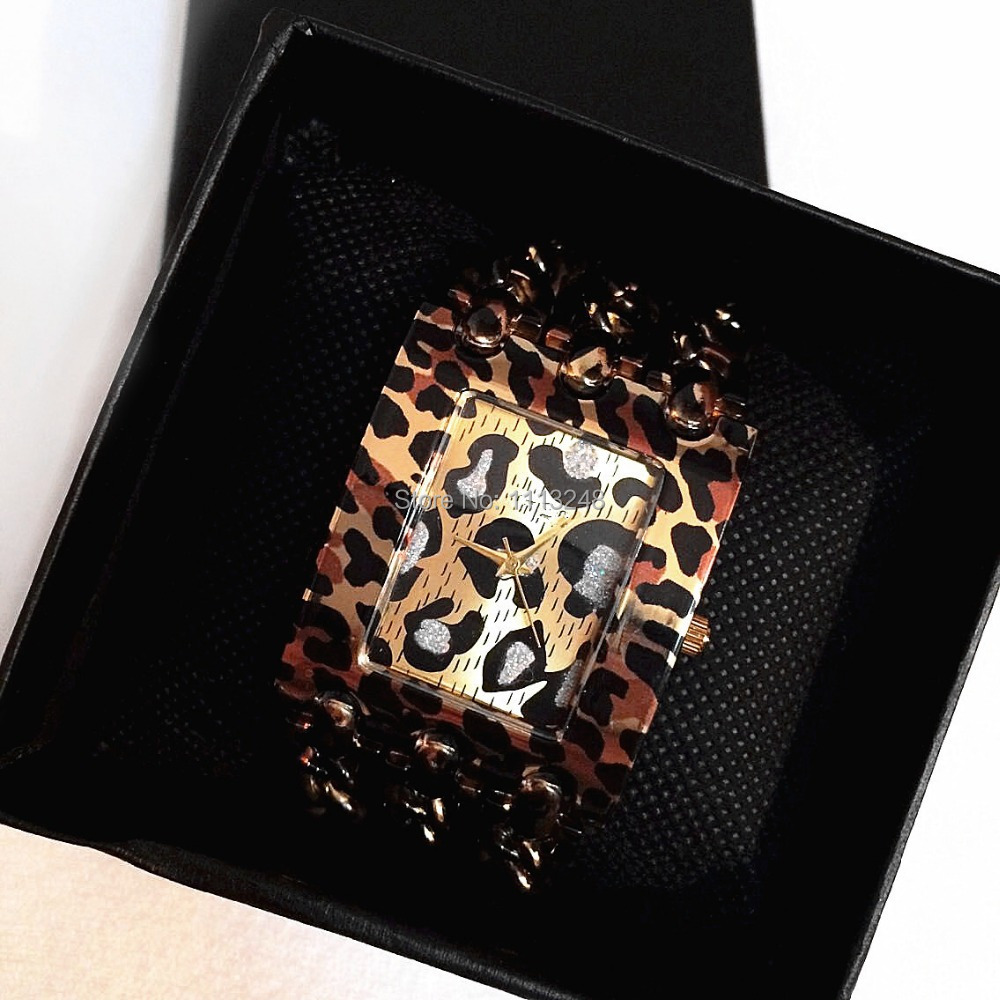 2015 New model hot sale Leopard  High quality fashion woman/lady watch dress Stainless steel  watch free shipping  <br><br>Aliexpress