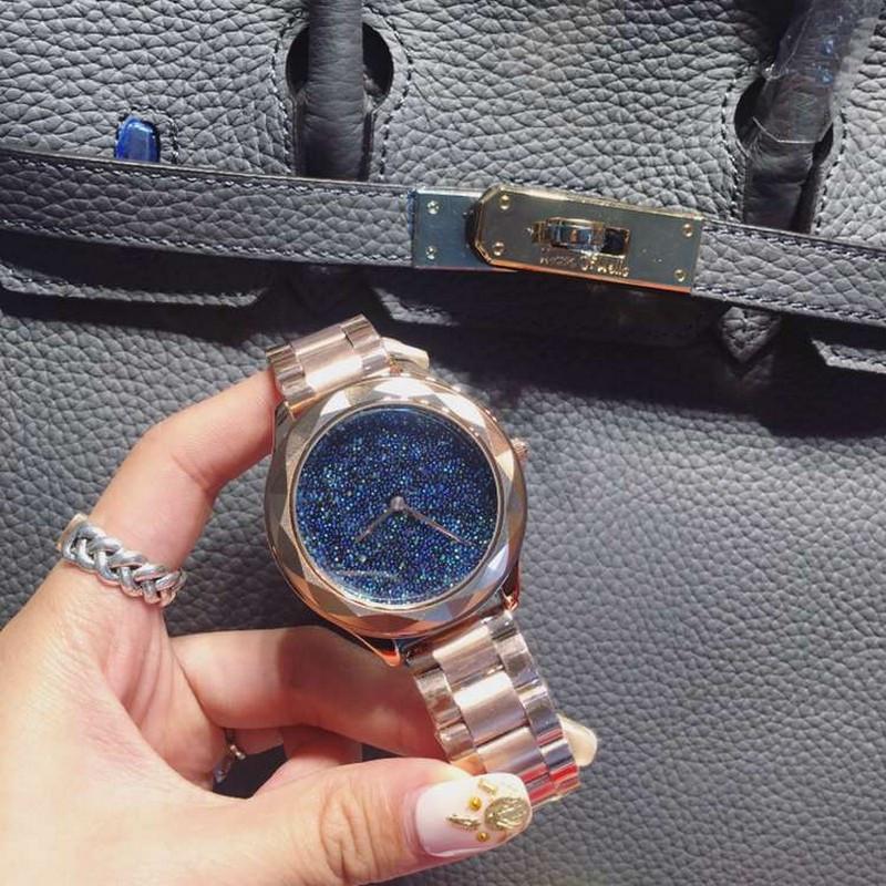 2016 модный бренд Женщин Часы Высокого Качества Полный Кристалл Женщин Горный Хрусталь Часы Розовое Золото Девушку Леди Платье Часы Часы