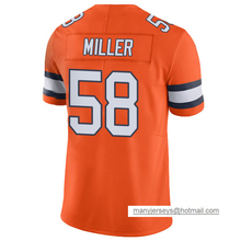 Men's #58 Von Miller 13 Trevor Siemian Jersey Adult Orange Color Rush Limited Miller Siemian Jerseys 100% Stitched Free Shipping(China (Mainland))