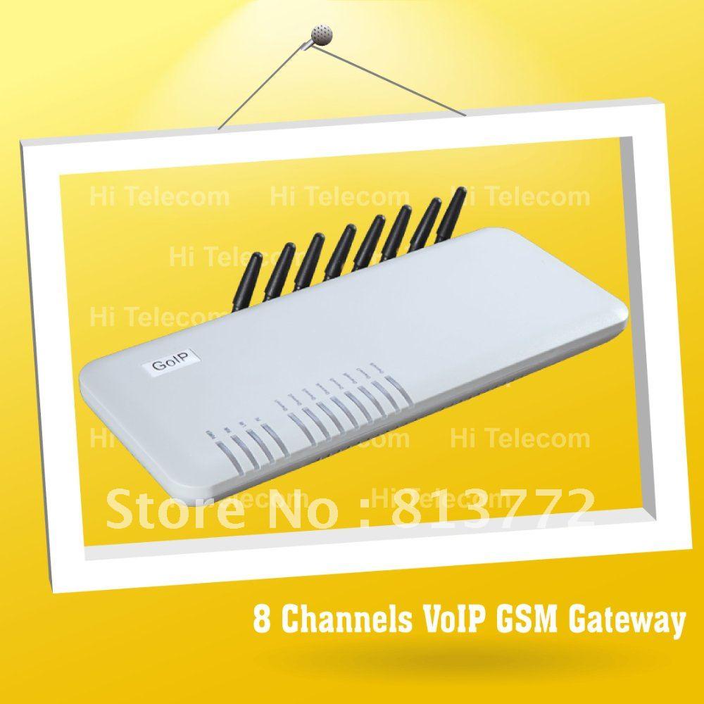 Free shipping 8 ports gsm asterisk voip gateway \ sip gateway \ skype phone(China (Mainland))