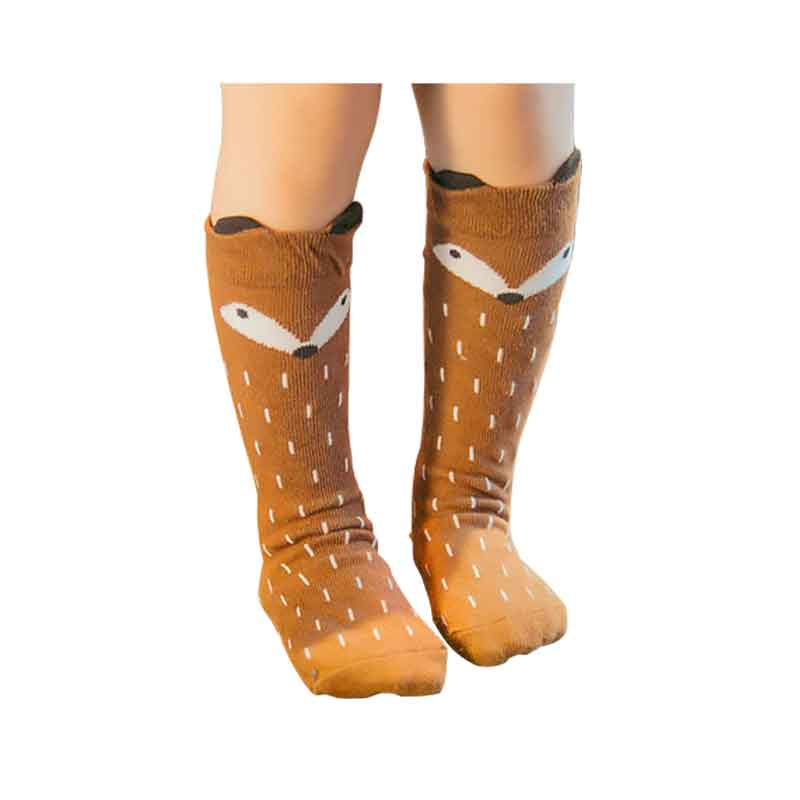 New Korean Knie Kousen Children Girls Knee Fox Socks Kids Warm Boys Calzini Cotton Chaussette Enfants Sock Unisex Free Shipping