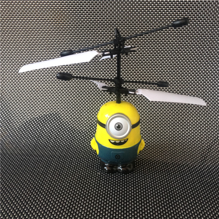 Monocular Minions/ Pegman Ugrate-Classic Electric Electronic Toys RC Flying Helicopter UFO Ball Ar.drone Drone For Kids(China (Mainland))