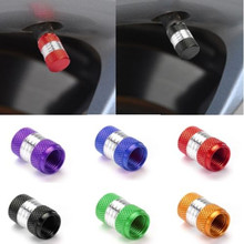 1set/4pcs US Size Aluminum Alloy Car Motorcycle Wheel Tire Valve Stem Cap Dust Cover Free shipping