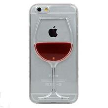 Горячая распродажа красное вино жидкость прозрачный чехол для Apple , iPhone 4 4S 5 5S 6 6 плюс всех моделей телефонов чехол задней обложки C034