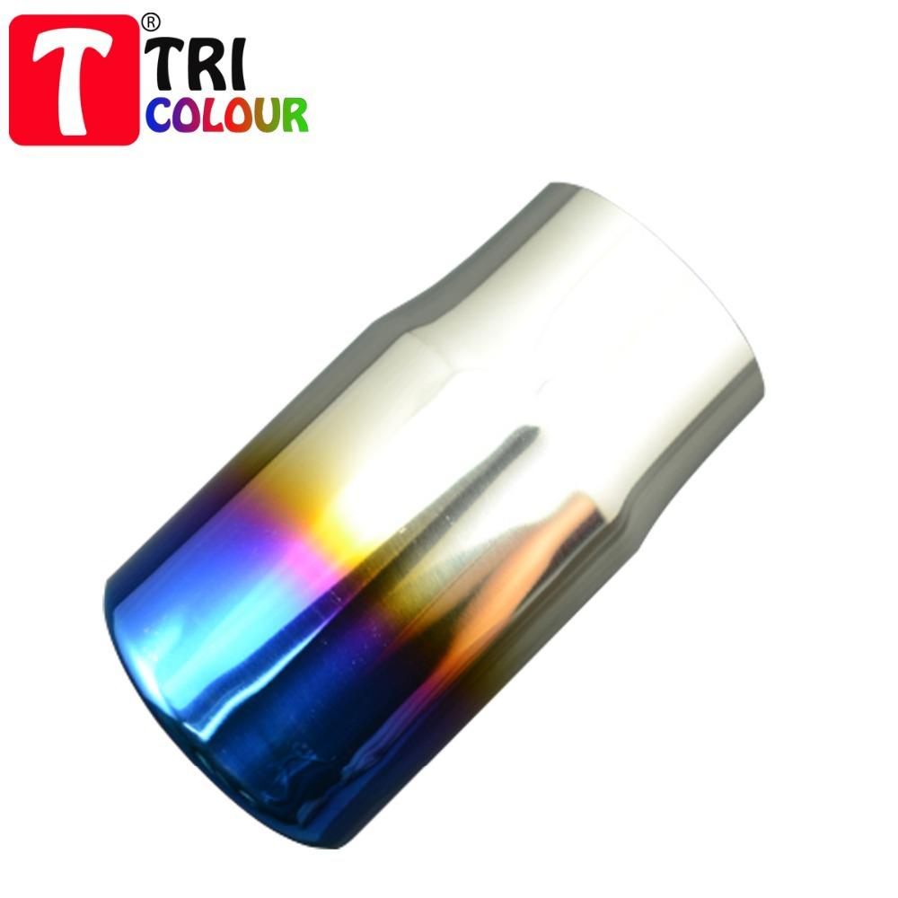 Здесь можно купить  (Tricolor Muffler) Best Quality Bluing Stainless Steel Car End Muffler Exhaust pipe 78mm Universal fit 4pcs/lot wholesale#LW122  Автомобили и Мотоциклы