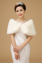 2015 Hot Sale Picture Color Sleeveless High Quanlity Fur Boleros Wedding Jacket Bridal Jackets Free Shipping(China (Mainland))