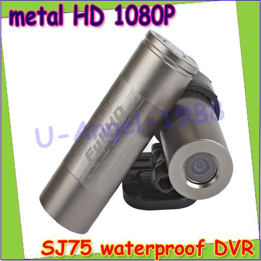 1 pcs SJ75 metal HD 1080P waterproof sport DVR 130 degree angle+5.0Mege CMOS AV-OUT H.264 helmet camera video camcorder(China (Mainland))