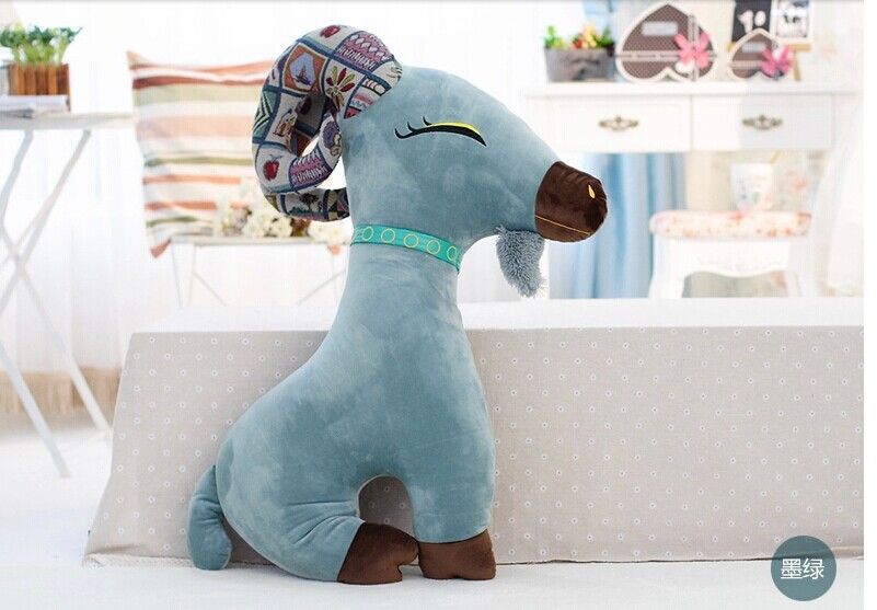 creative new goat plush toy dark green goat stuffed toy boyfriend pillow birthday gift about 95cm(China (Mainland))