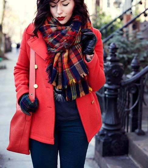 Za основным зима 2016 шарф плед шарф cuadros новый дизайнер мужской акриловые основная шали большой размер шарфы