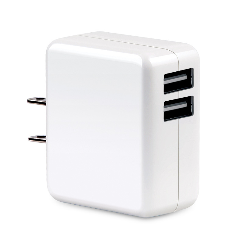 US Plug White 5V dual Port USB Travel Charger / Mains Wall AC Multi Power Adapter for iPhone 6 5 5s 4 4s Samsung etc(China (Mainland))