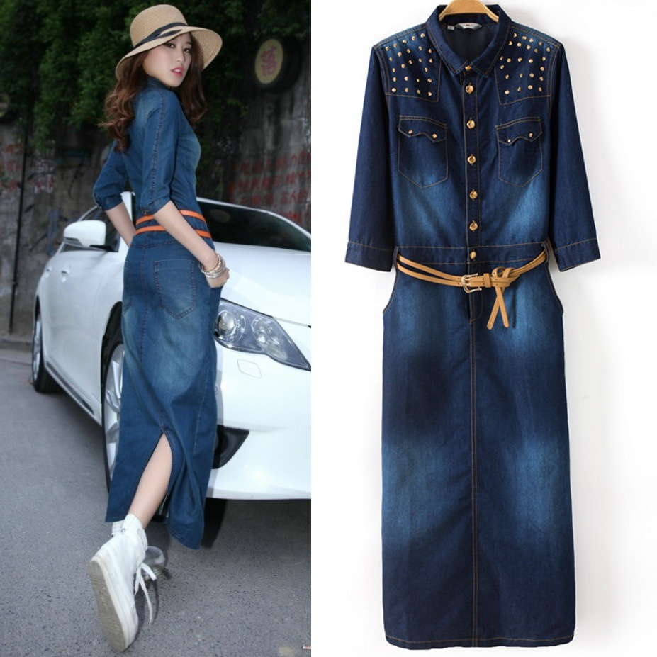 Popular Denim Jeans Dress-Buy Cheap Denim Jeans Dress lots from ...