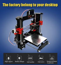 high efficiency long life Reprap Prusa i3 DIY 3d Printer kit with 2 Roll Filament 4GB SD card and LCD