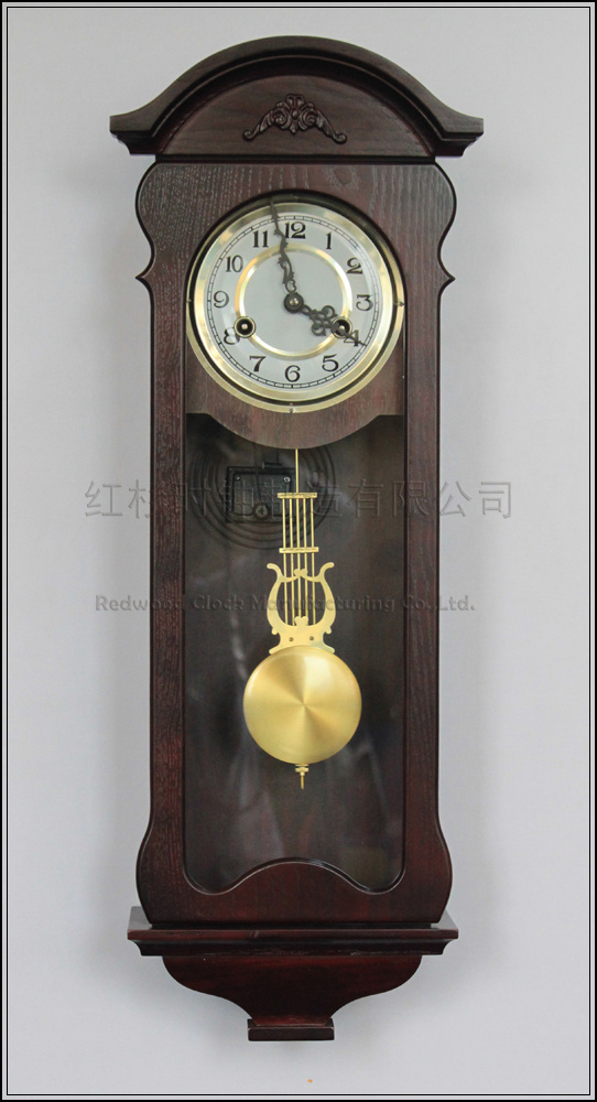 Wood living room wall clock pendulum tuo mechanical pendulum clocks rq0453 classical art and - Stylish pendulum wall clock ...
