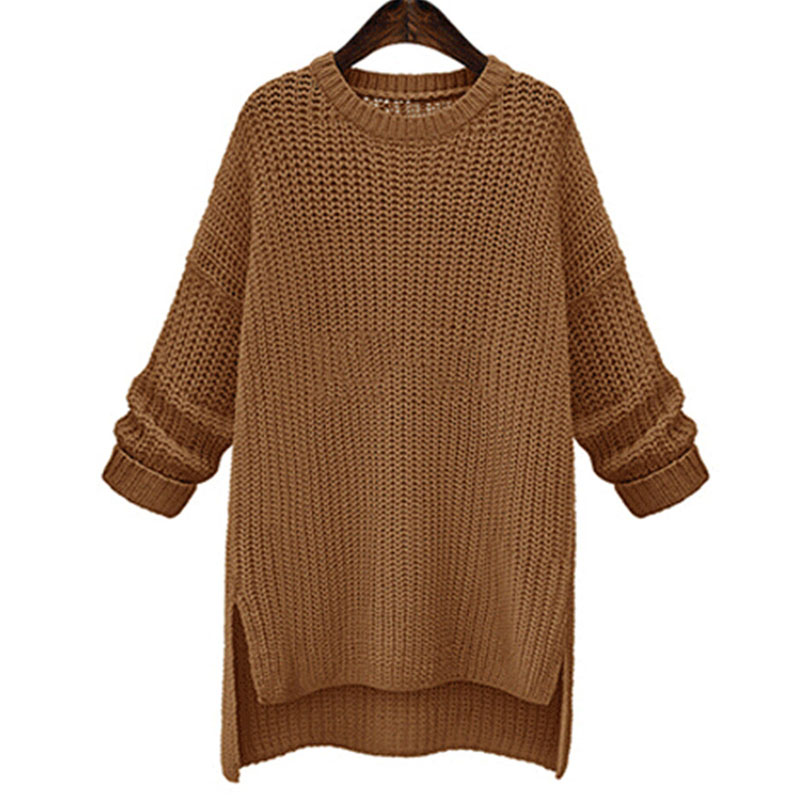 Ivory Yellow Beige Lynna Striped Faux Linen 3 Piece: Women Casual Camel Solid Color Jumpers Long Sweater