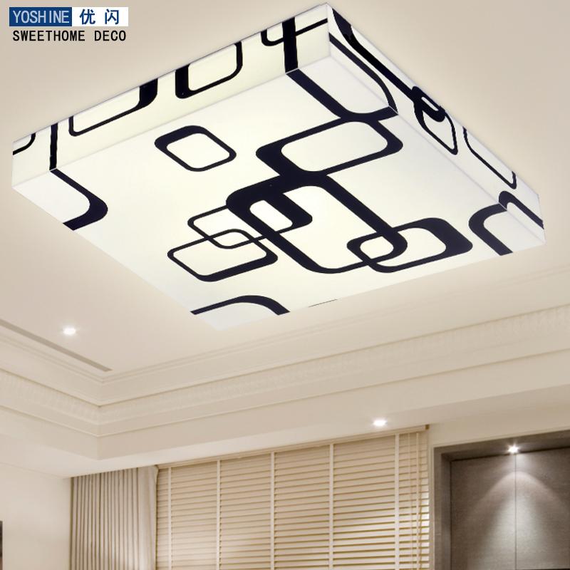 Brief modern ceiling light bedroom lamps led study light living room lights rectangle lighting(China (Mainland))